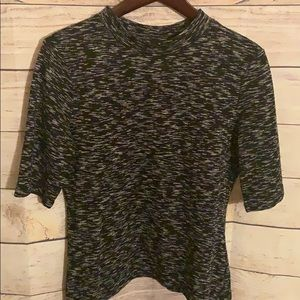 H&M Marbled Cotton Stretch Blouse Modern Classic